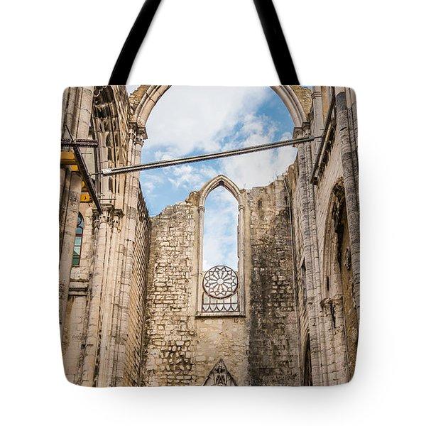 Church At Carmo Convent Tote Bag