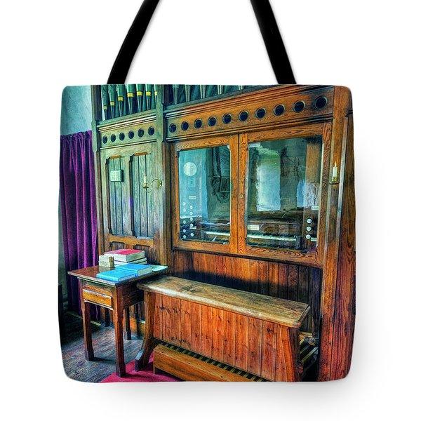 Church Organ Tote Bag