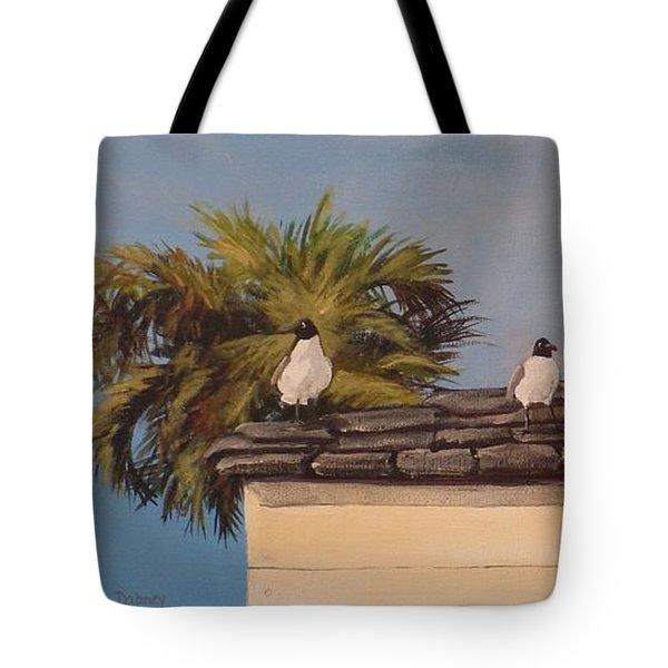 Cinco Seagulls Tote Bag by Carla Dabney