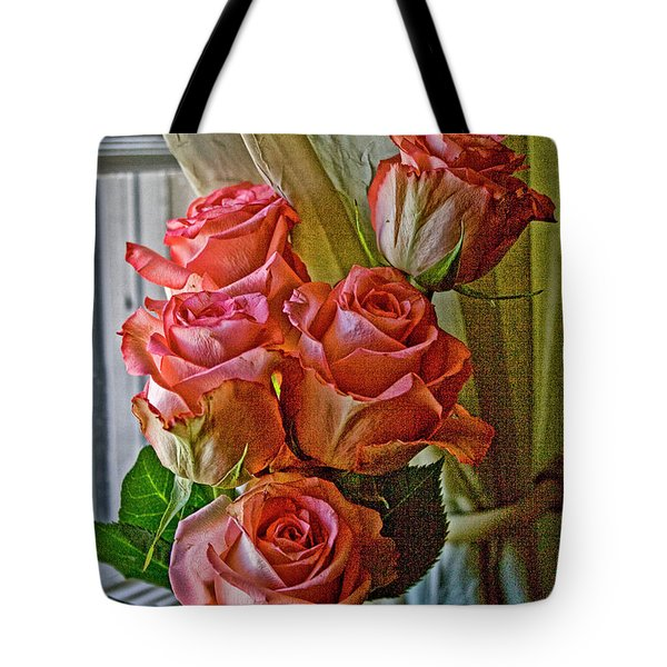 Tote Bag featuring the photograph Cindy's Roses by Bonnie Willis