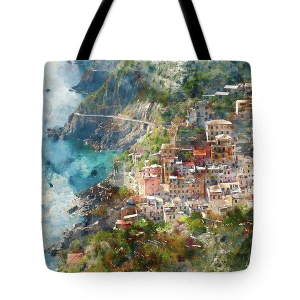 Cinque Terre In Italy Tote Bag