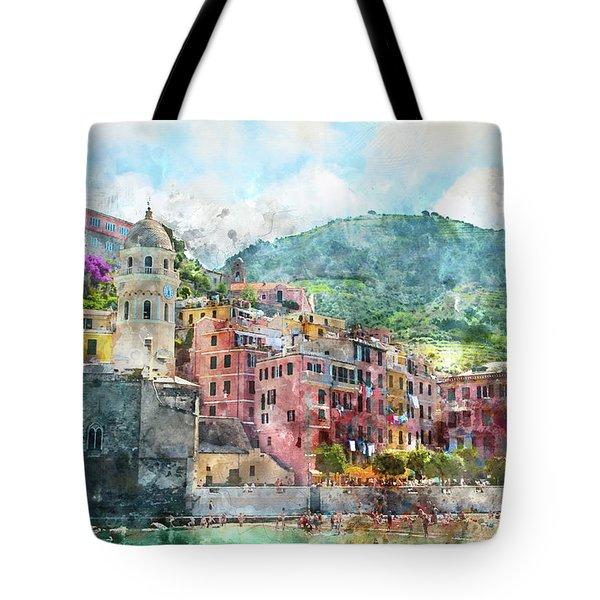 Cinque Terre Italy Tote Bag