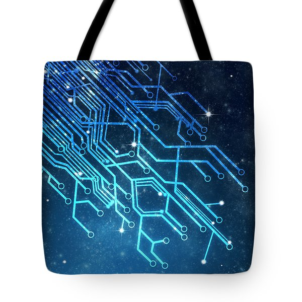 Circuit Board Technology Tote Bag