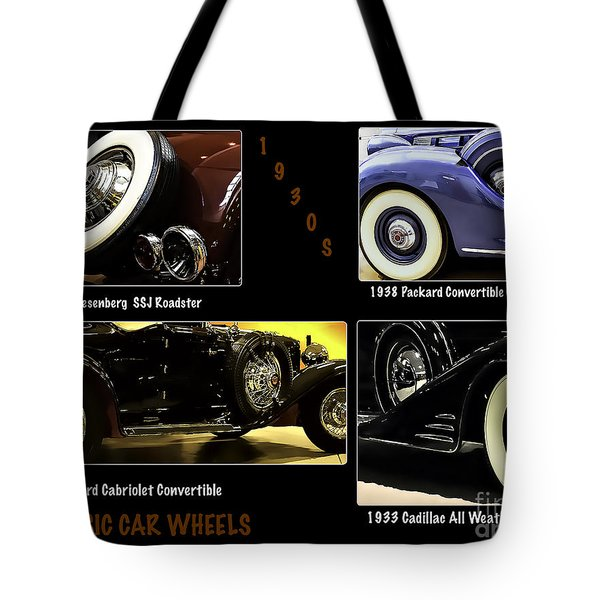 Classic Car Wheels Tote Bag