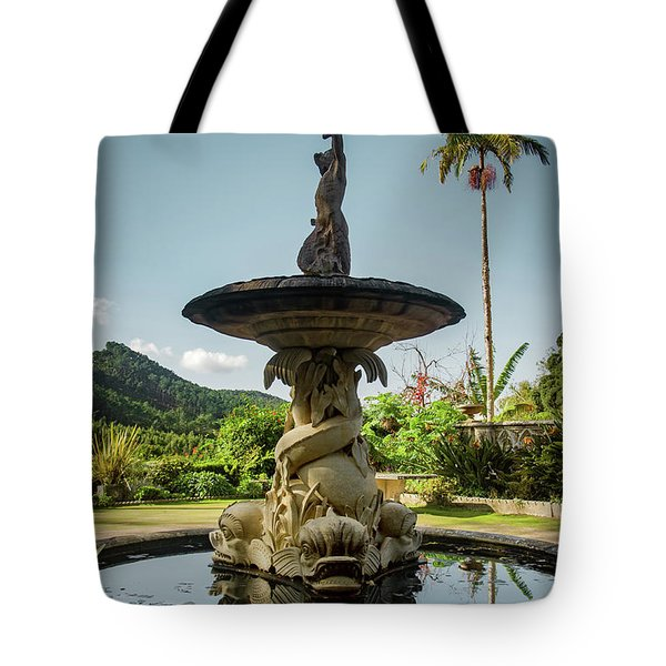 Tote Bag featuring the photograph Classic Fountain by Carlos Caetano