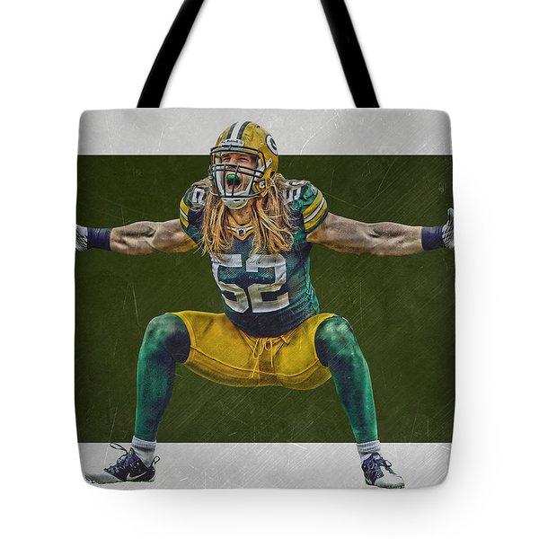 Clay Matthews Green Bay Packers Tote Bag