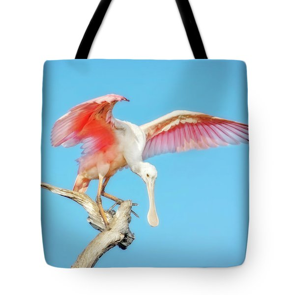 Spoonbill Cleared For Takeoff Tote Bag