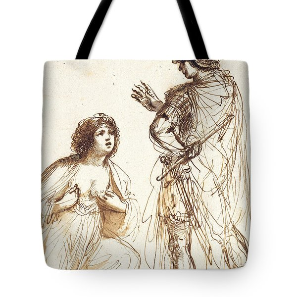 Cleopatra And Octavian Tote Bag