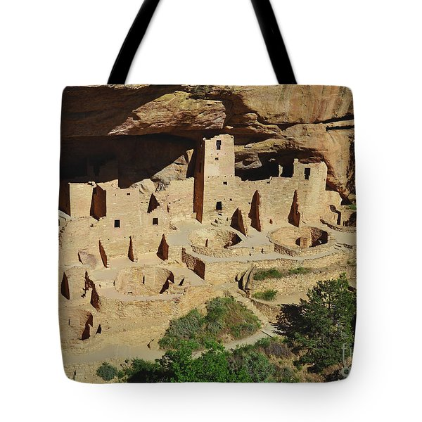 Cliff Palace Mesa Verde Tote Bag by Debby Pueschel