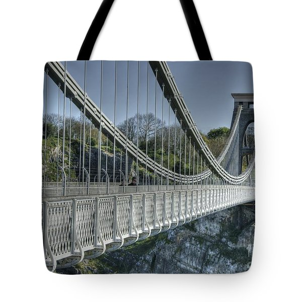 Tote Bag featuring the photograph Clifton Suspension Bridge by David Birchall