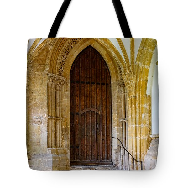 Cloisters, Wells Cathedral Tote Bag