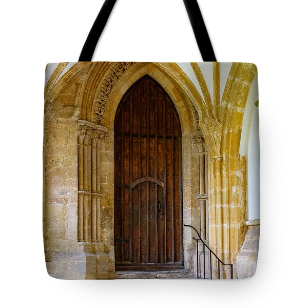 Cloisters, Wells Cathedral Tote Bag by Colin Rayner