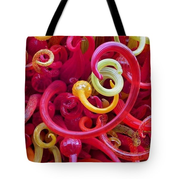 Close-up Of Art Glass By Dale Chihuly Tote Bag