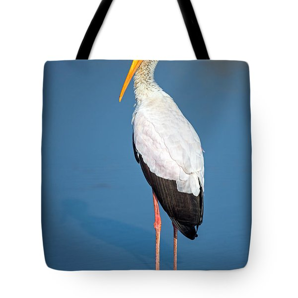 Close-up Of Yellow-billed Stork Tote Bag