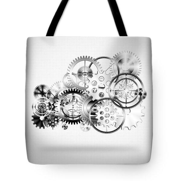 Cloud Made By Gears Wheels  Tote Bag by Setsiri Silapasuwanchai
