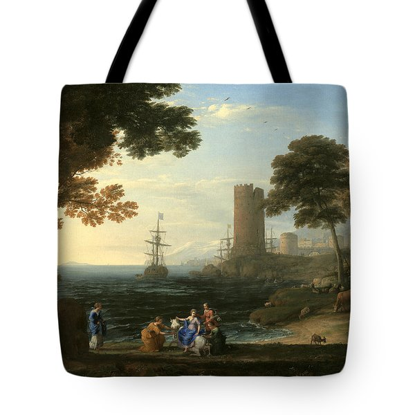 Coast View With The Abduction Of Europa Tote Bag