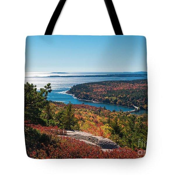 Coastline Color Tote Bag by Sharon Seaward