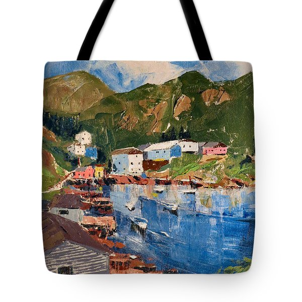 Coastal Village, Newfoundland Tote Bag