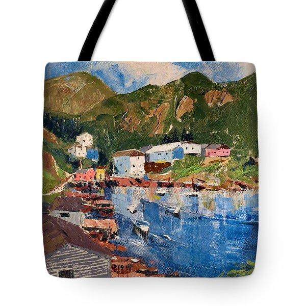 Coastal Village, Newfoundland Tote Bag