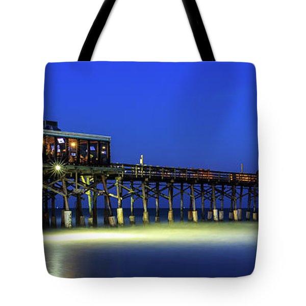 Cocoa Beach Pier At Twilight Tote Bag