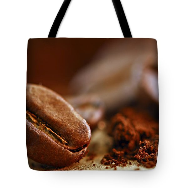Coffee Beans And Ground Coffee Tote Bag