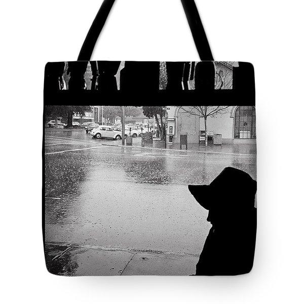 Coffee In The Rain Tote Bag