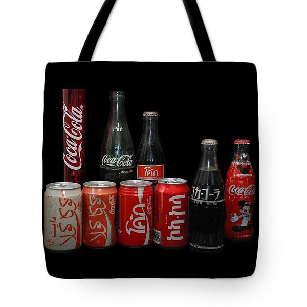 Coke From Around The World Tote Bag by Rob Hans