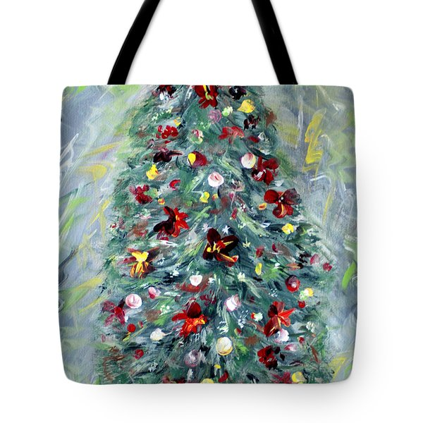 Christmas Tree. Green Tote Bag