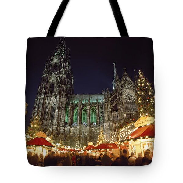Cologne Cathedral And Christmas Market Tote Bag