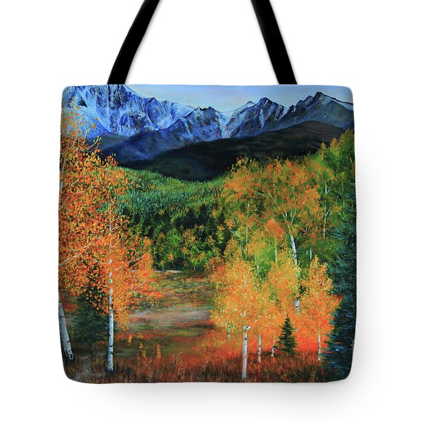 Colorado Aspens Tote Bag by Jeanette French