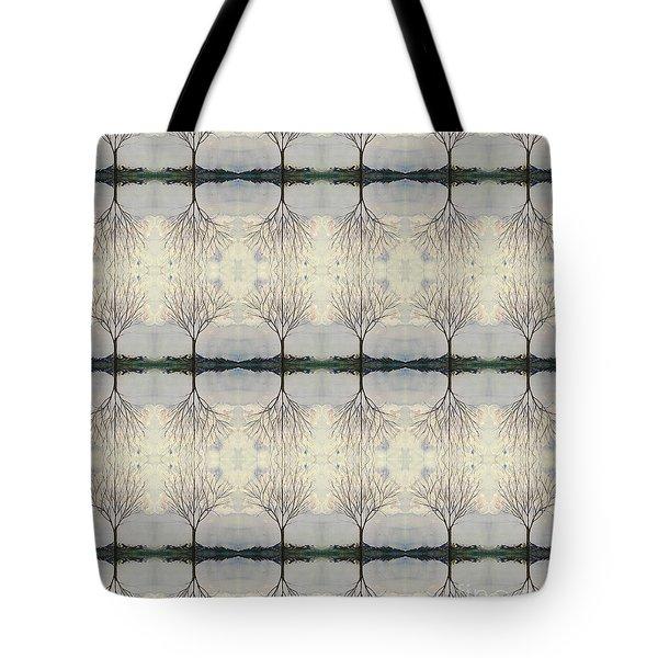 Colorado Cottonwood Tree Mirror Image  Tote Bag