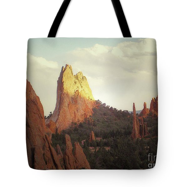 Tote Bag featuring the photograph Colorado Garden Of The Gods Landscape by Andrea Hazel Ihlefeld
