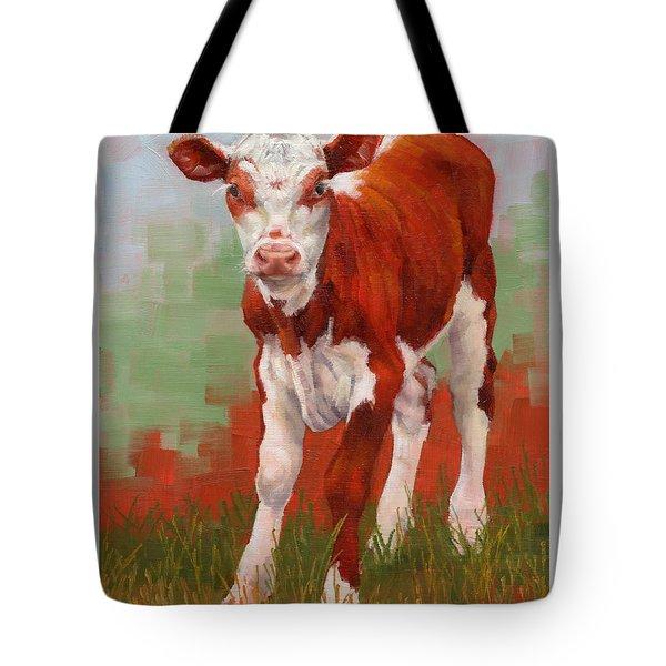 Colorful Calf Tote Bag