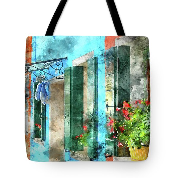Colorful Houses In Burano Island Venice Italy Tote Bag
