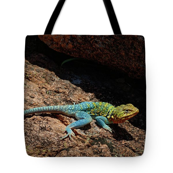 Colorful Lizard II Tote Bag