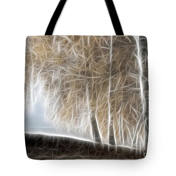Colorful Misty Forest Tote Bag