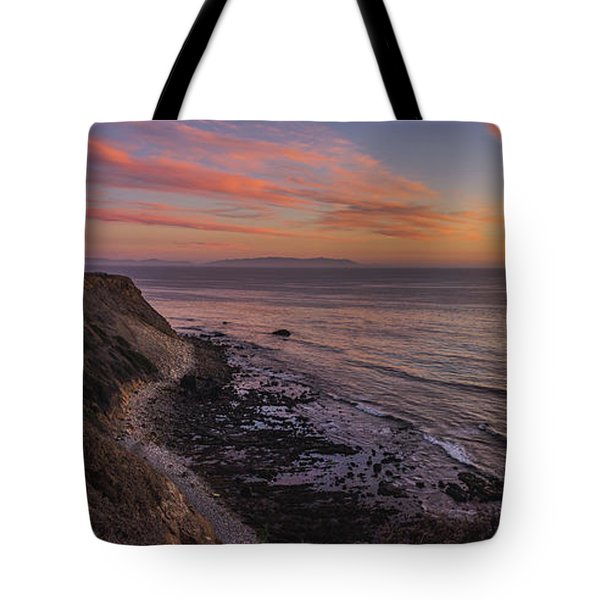 Tote Bag featuring the photograph Colorful Sunset At Golden Cove by Andy Konieczny