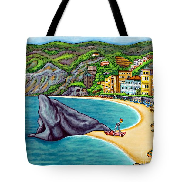 Colours Of Monterosso Tote Bag by Lisa  Lorenz