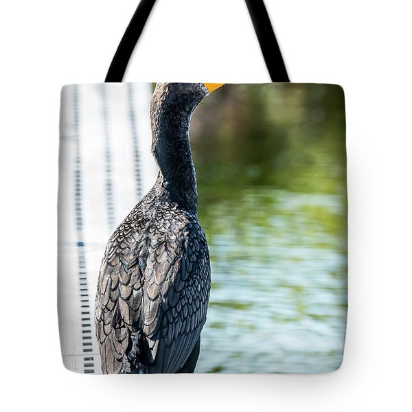 Tote Bag featuring the photograph Comorant by Michael D Miller