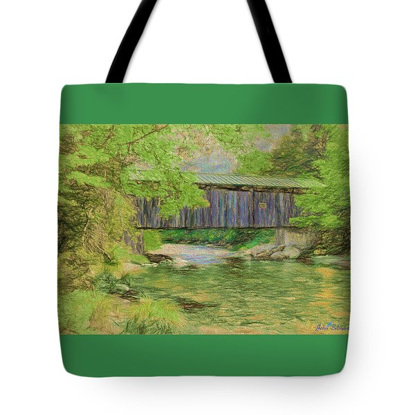 Cool And Green And Shady Tote Bag by John Selmer Sr