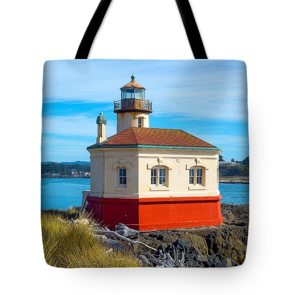 Coquille Lighthouse Tote Bag