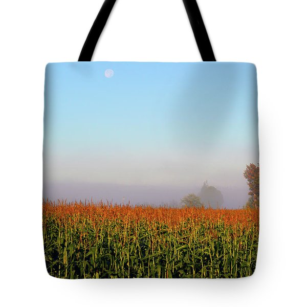Cornfield Moonset Tote Bag