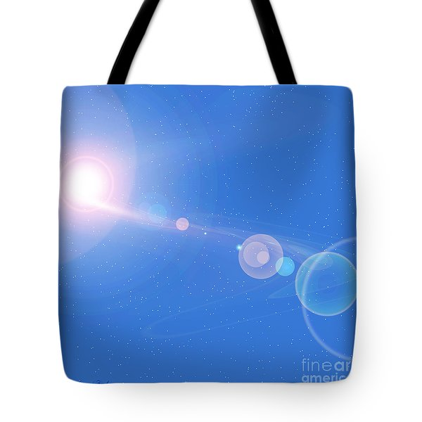 Cosmic String Tote Bag by Corey Ford