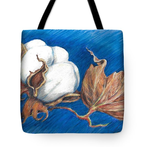 Cotton Picking Blues Tote Bag