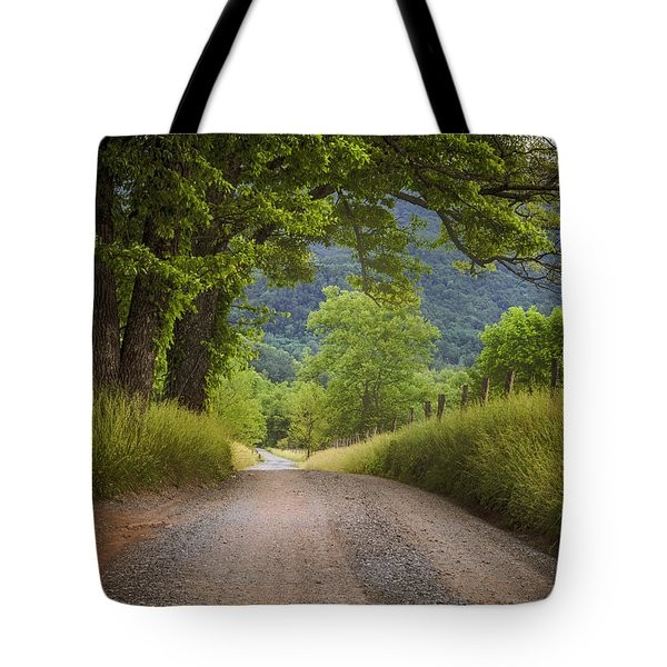 Country Lane In The Smokies Tote Bag