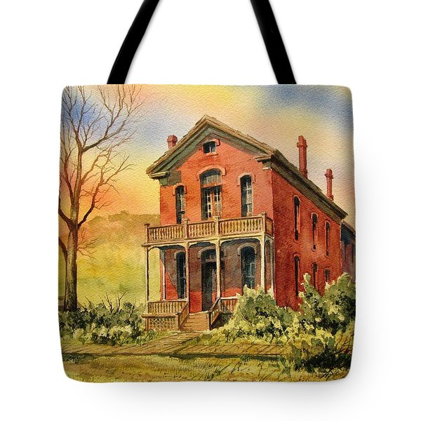 Courthouse Bannack Ghost Town Montana Tote Bag by Kevin Heaney