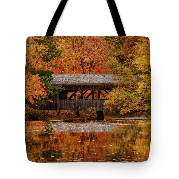Covered Bridge At Sturbridge Village Tote Bag