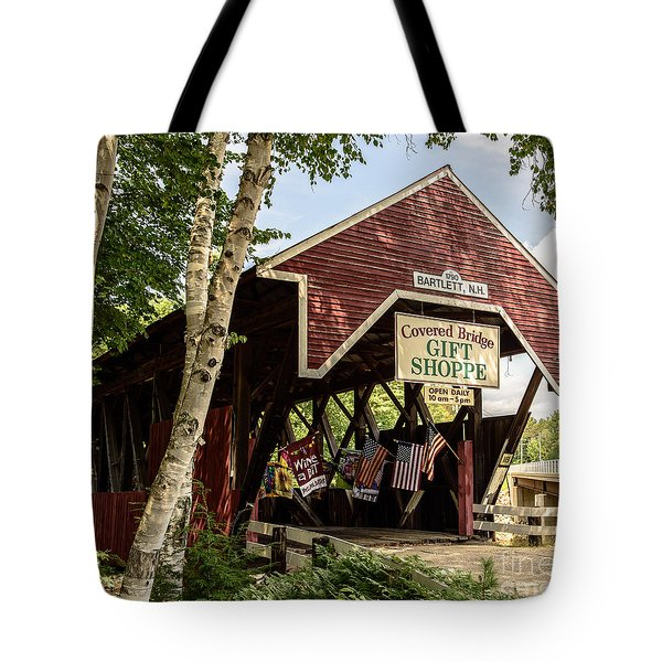 Covered Bridge Gift Shoppe Tote Bag by Sherman Perry