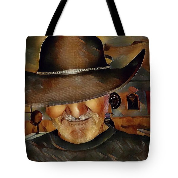 Cowboy Tote Bag by Robert Smith