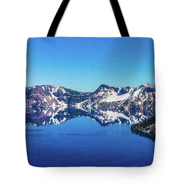 Tote Bag featuring the photograph Crater Lake by Jonny D